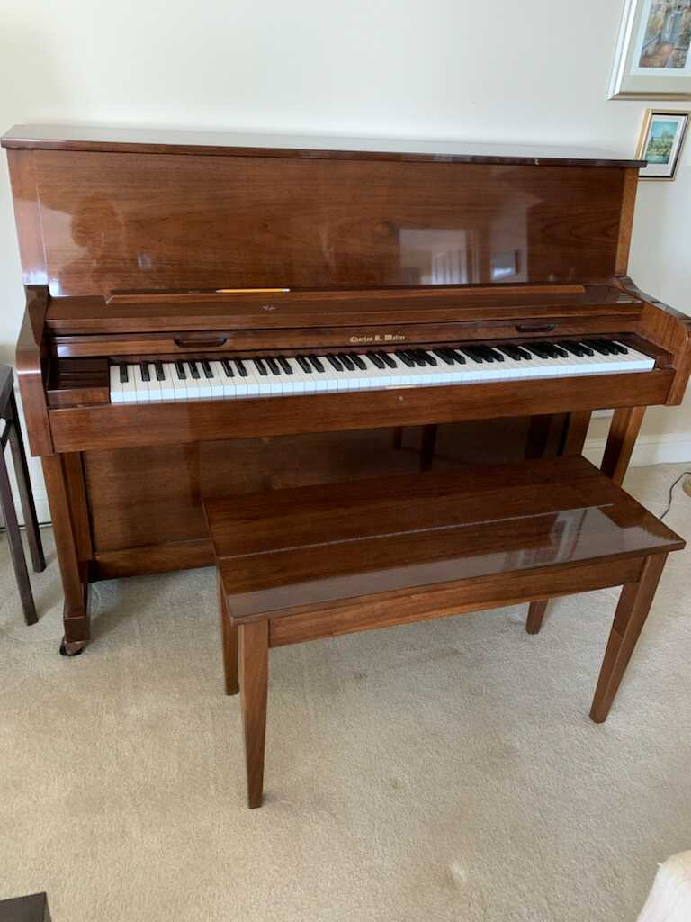 Lightly Used Charles Walter Handcrafted Upright Piano
