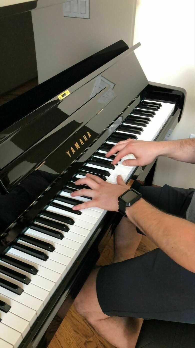"""Yamaha U3 Upright Piano with MIDI system 52"""" Polished Ebony"""
