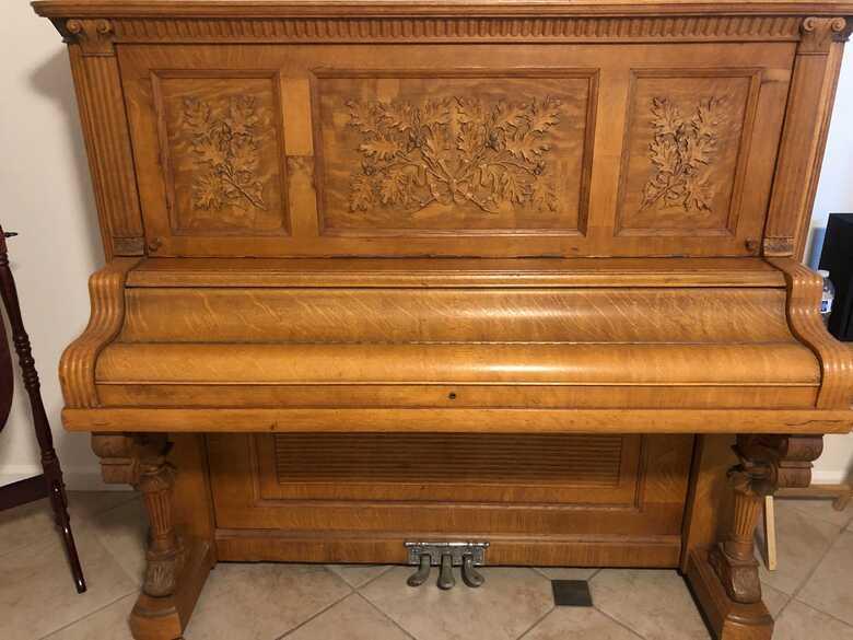 Rare 1895 Kimball upright piano