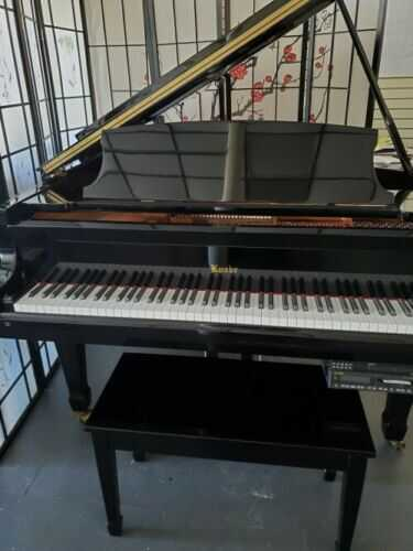 """KNABE BABY GRAND 5'1"""" w/PianoDisc Player System 1998"""