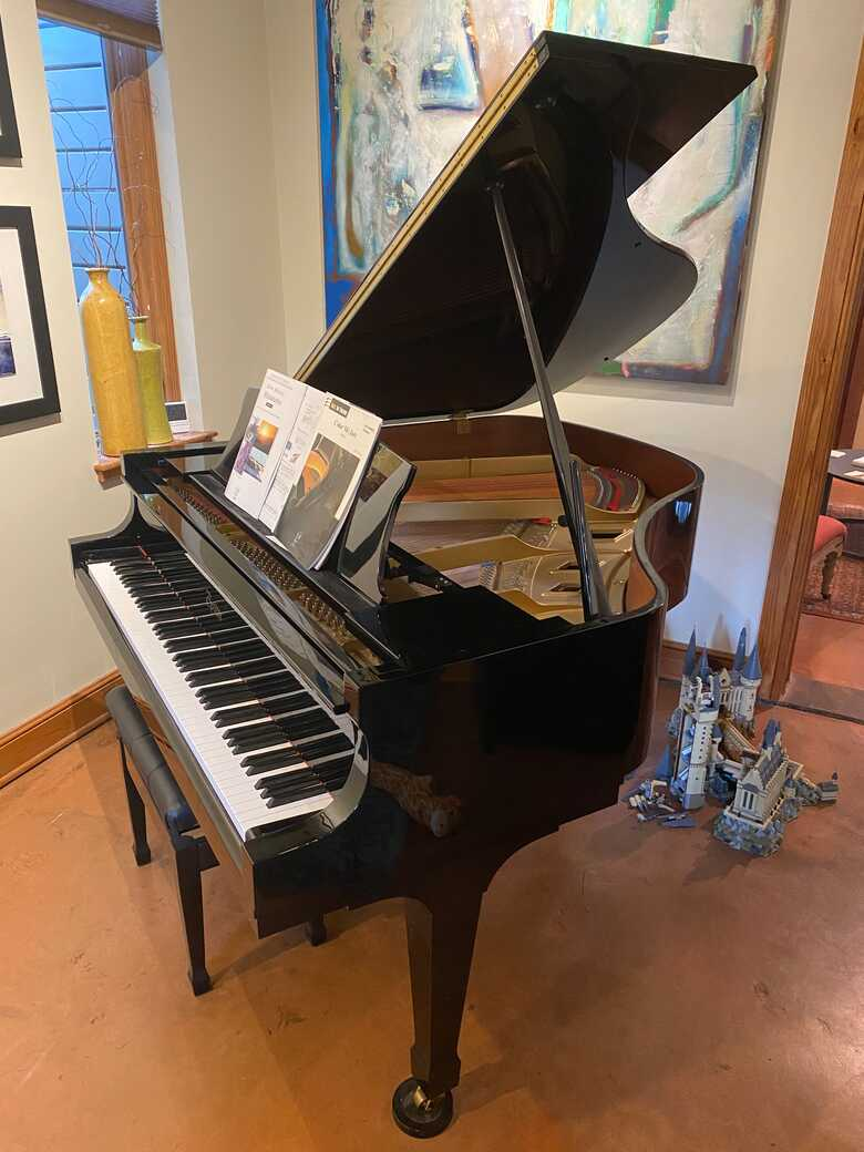 "Boston Black Polish Grand Piano 5'1"" hardly used"
