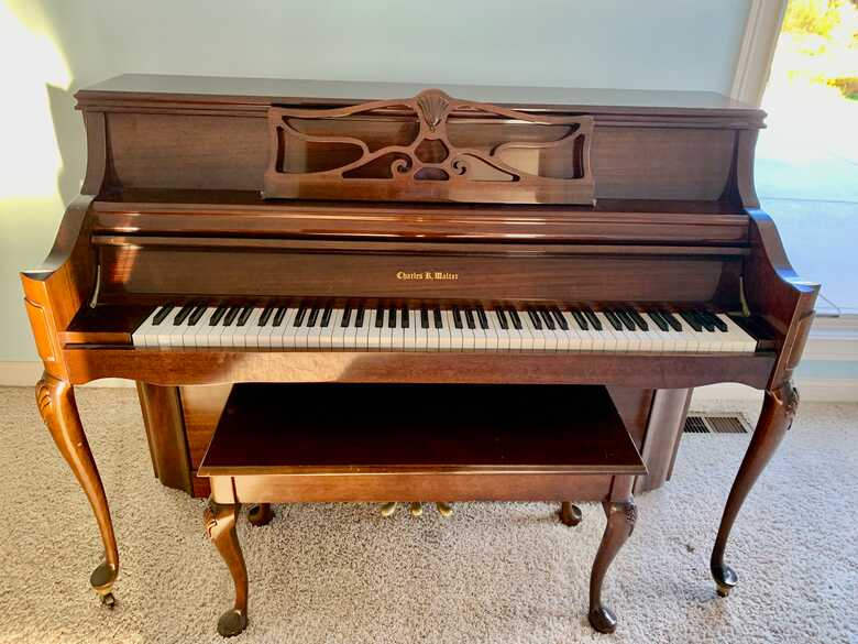 Beautiful Queen Anne Charles Walter piano