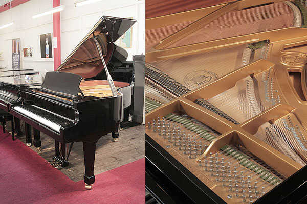 A 2016, W. Hoffmann T177 grand piano in black