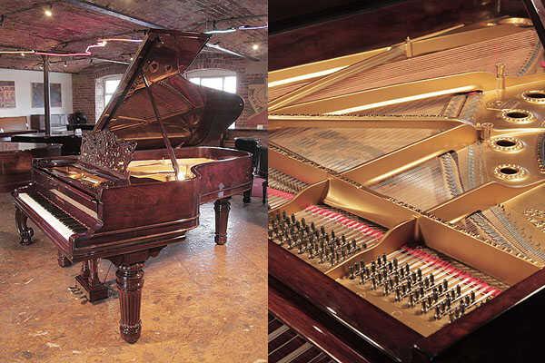 Restored, 1899, Steinway Model B grand piano in rosewood