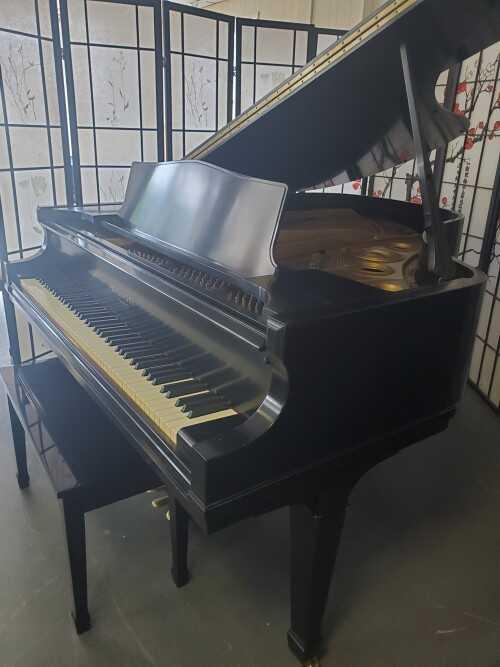 """Knabe Grand Piano 5'8"""" Ebony Gloss 1970 (VIDEO) WARRANTY"""