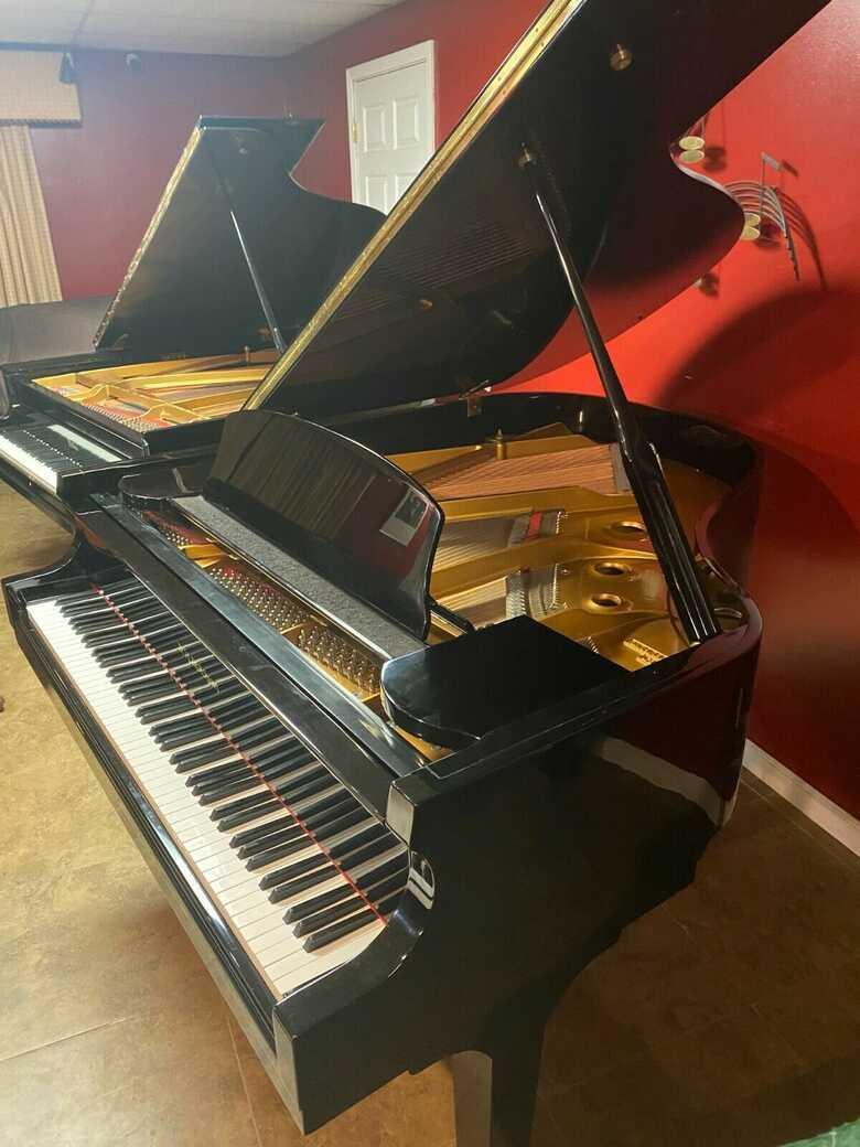 Baldwin self player baby grand piano w Yamaha key felt cover