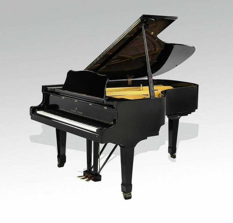 One Atlanta owner grand piano and Yamaha C7 bench