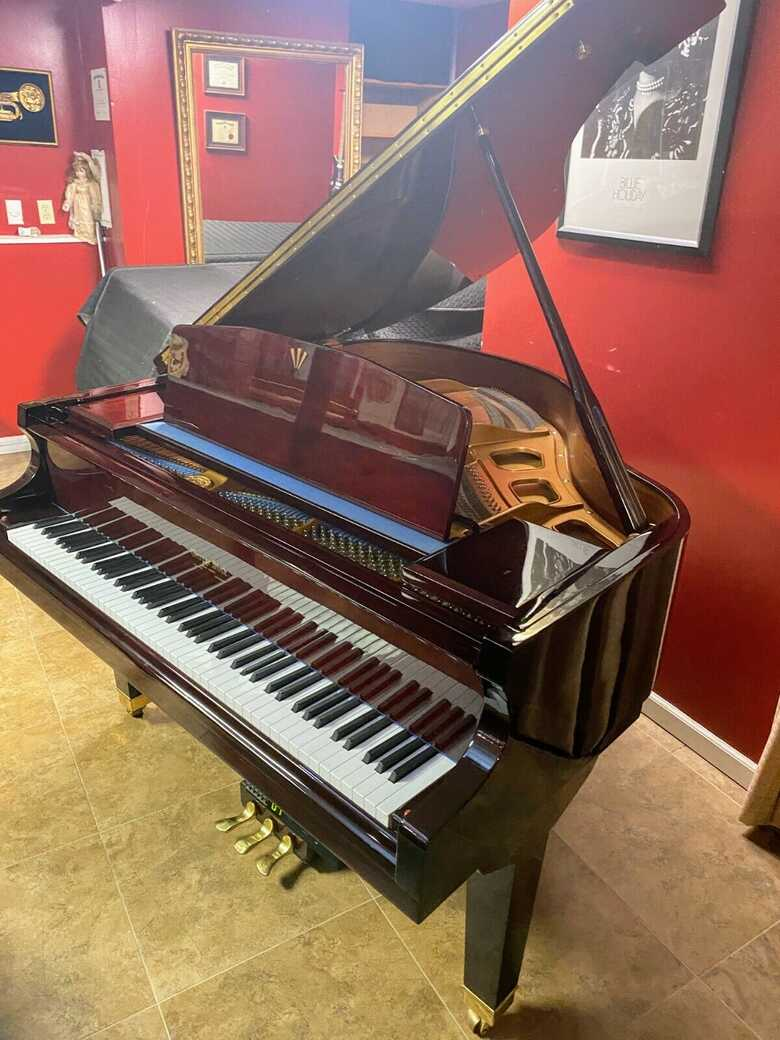 George Steck self player baby grand piano