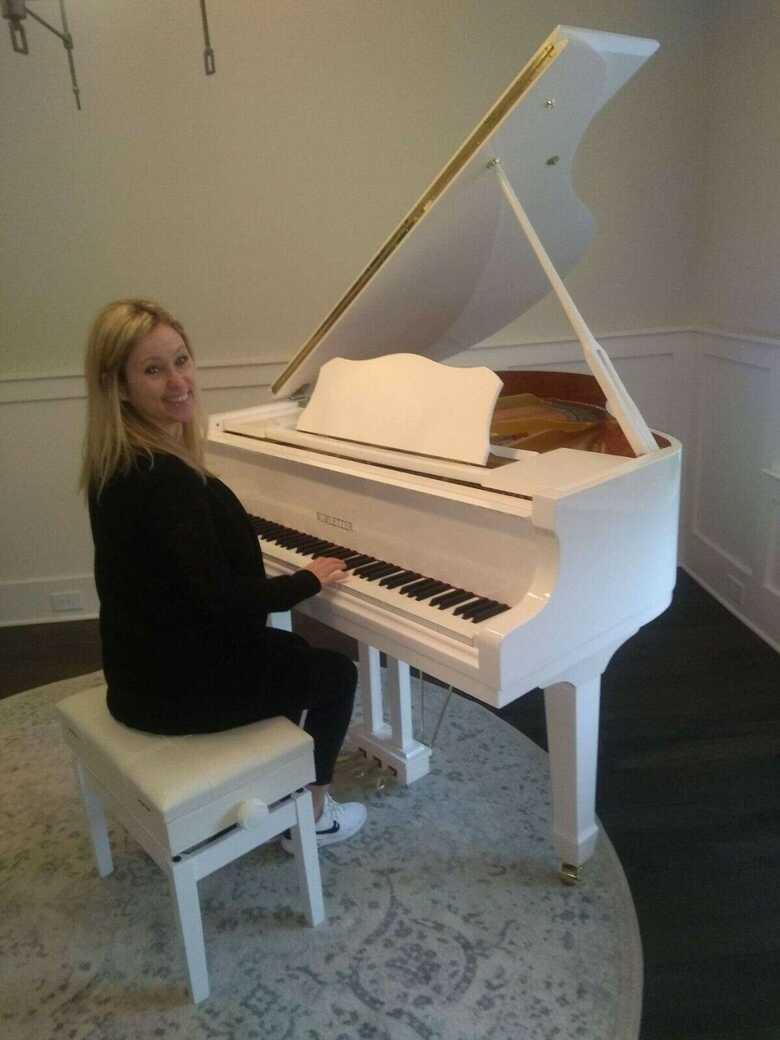 Brand new 2022 white 4'9 baby grand piano