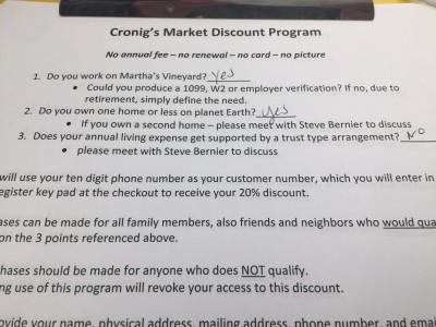 Cronig's Martket