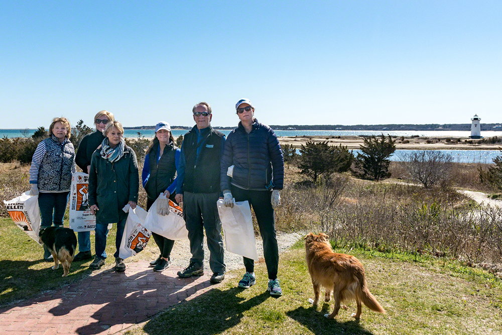 Martha's Vineyard Beach Clean Up: Point B Realty Beach Clean-Up Team