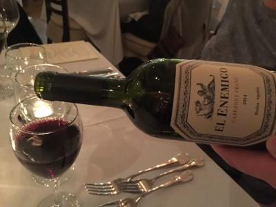 Argentina Wine Tasting Dinner Harbor View Hotel Edgartown Martha's vineyard