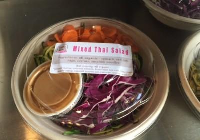 Not Your Sugar Mamas Organic Cafe Thai salad
