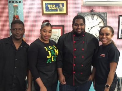 Edgartown Diner Chef Ralston & His Team At Caribbean Night Martha's Vineyard