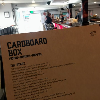 New Martha's Vineyard Restaurant The Cardboard Box Opens In Oak Bluffs