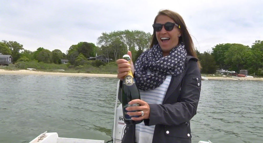 Champagne & Fresh Oysters From Cottage City Oyster Farm Martha's VineyRD