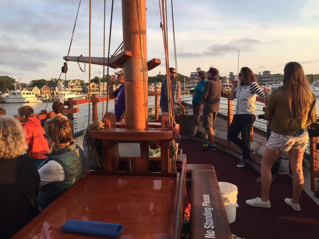 Sunset Sail Martha's Vineyard Aboard Pirate Ship With Oyster Tour Farm Field Sea