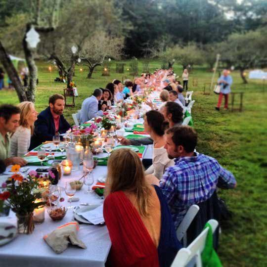 Martha's Vineyard Pop Up Dinners Makers Table From Farm Field Sea