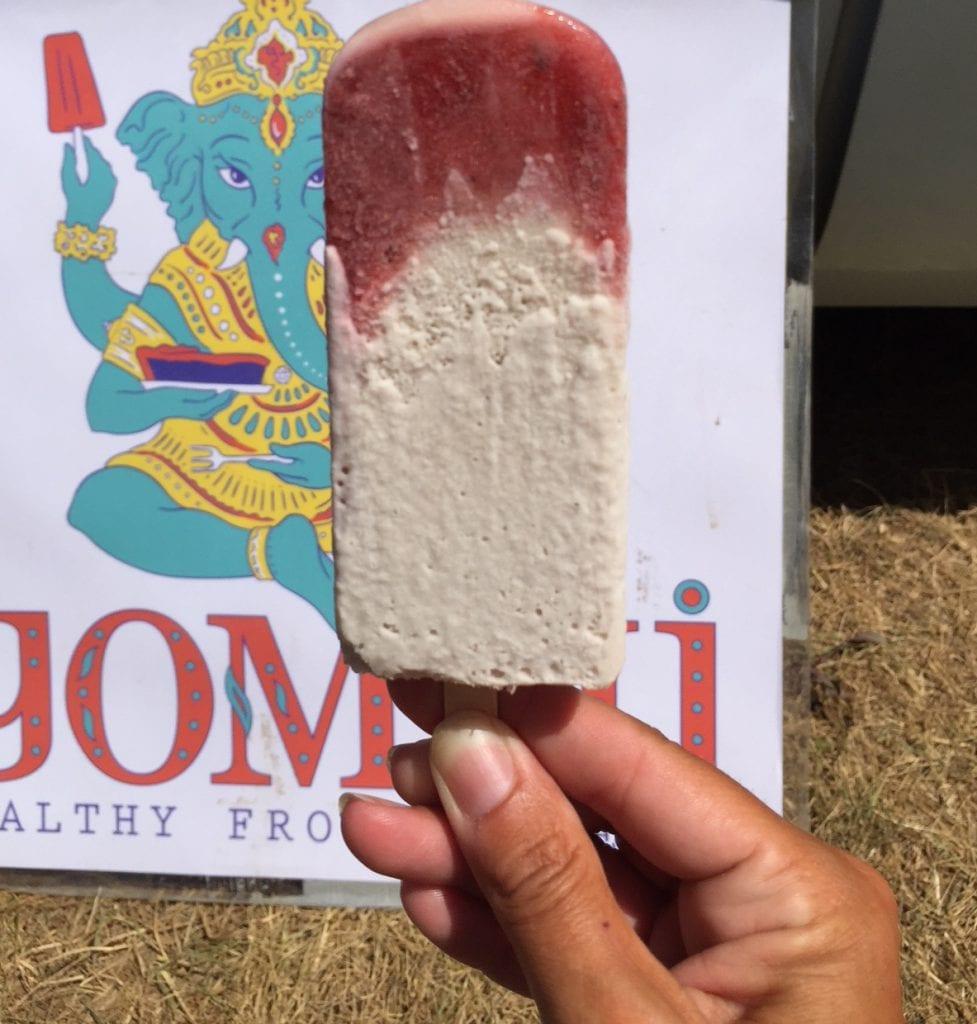Yommi Healthy Frozen Treats Martha's Vineyard: Strawberry Basil Cream fresh strawberries, local honey and basil, coconut milk, MV Sea Salt, bananas, and vanilla