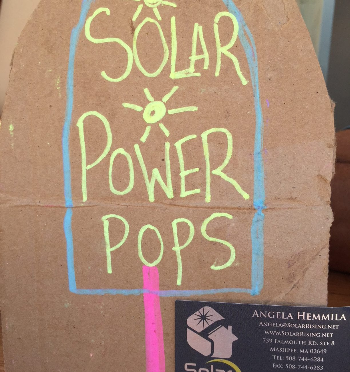 Yommi Superfood Popsicles Martha's Vineyard Food Truck Solar Power
