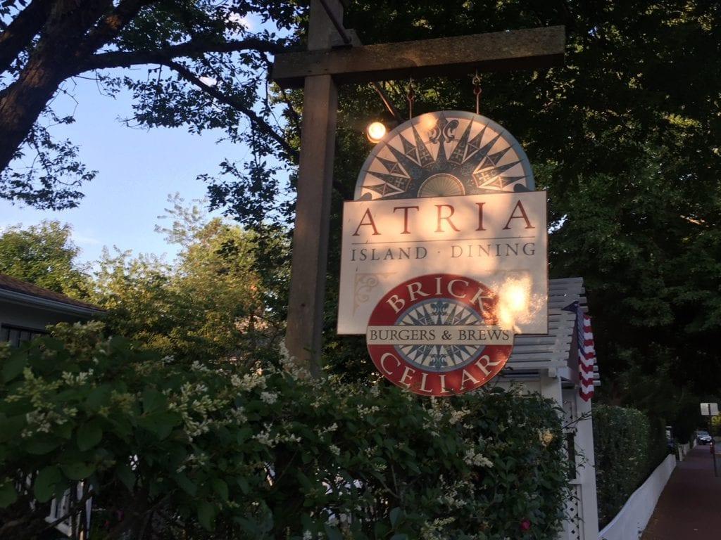 Martha's Vineyard Restaurant: Atria Restaurant In Edgartown Opens New Outside Dining, Bar, Pizza