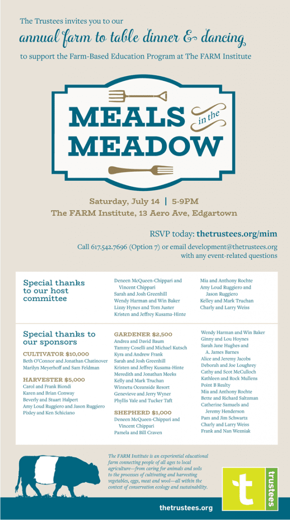 Meals In The Meadows Fundraiser For The Farm Institute Martha's Vineyard