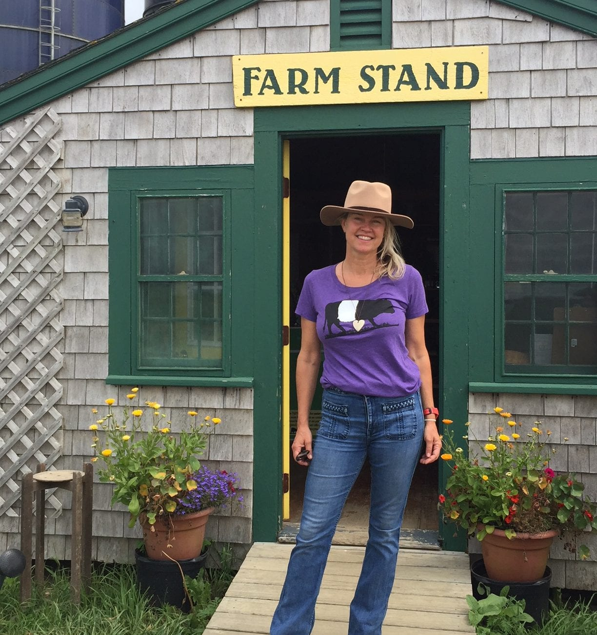 The Farm Institute Meals In The Meadows - Eunice Youmans, the General Manager for the Trustees on Martha's Vineyard