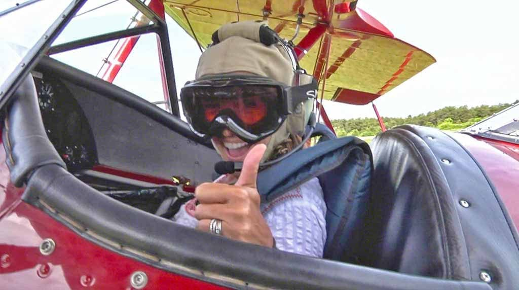 Martha's Vineyard Classic Aviators Biplanes Feature Open Cockpit For Two People
