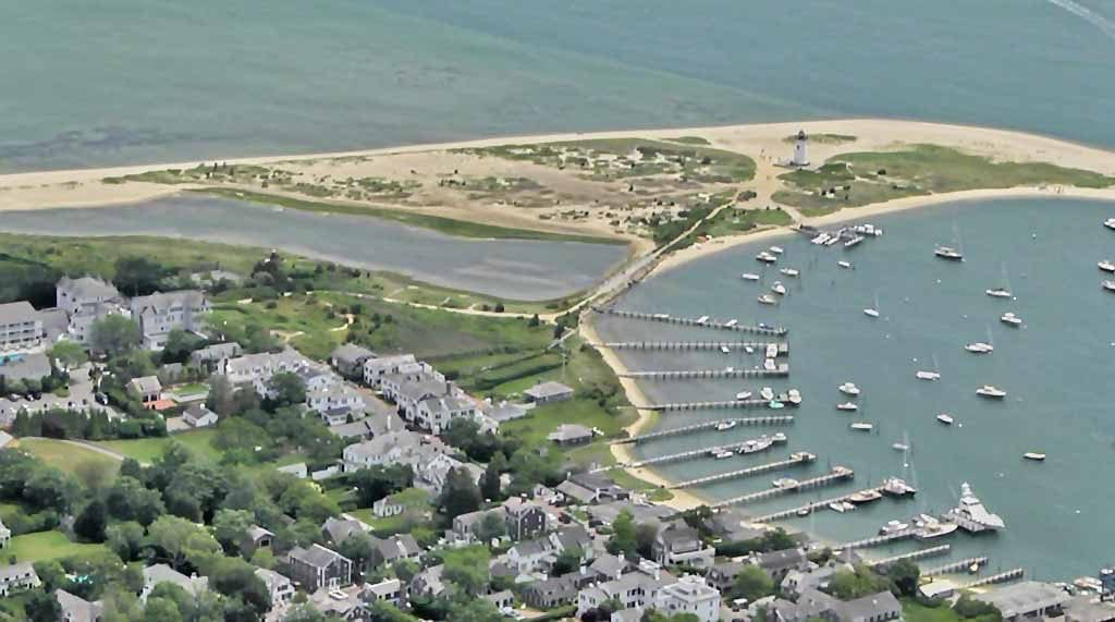 Edgartown Lighthouse Aerial View From Classic Aviators Biplanes Martha's Vineyard