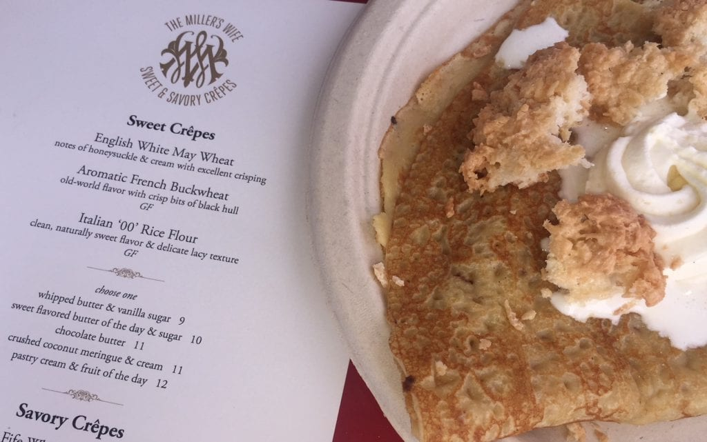 The Miller's Wife Crêpes Food Truck Martha's Vineyard - Crushed Coconut meringue and cream