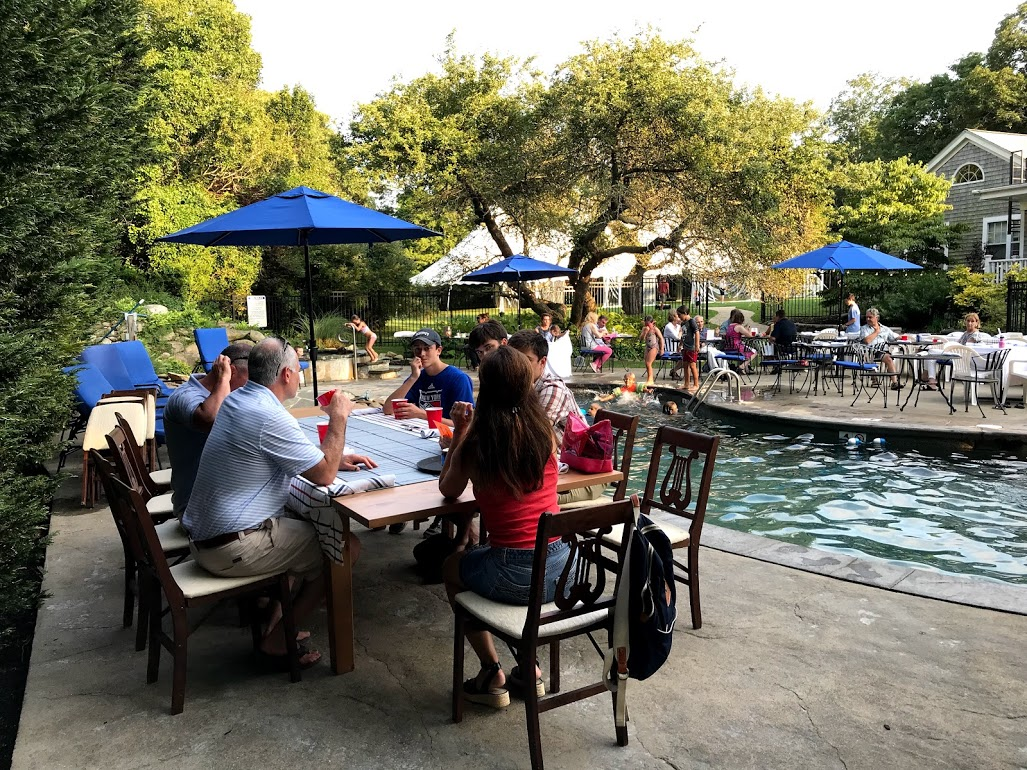 Lambert's Cove Inn Restaurant Farm BBQ Dinner Poolside With Music