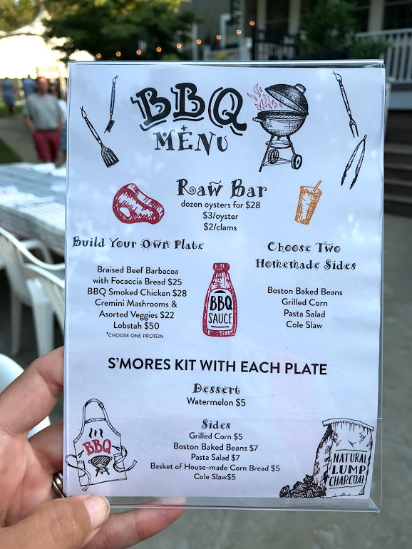 Martha's Vineyard Restaurants: Lambert's Cove Inn BBQ Menu