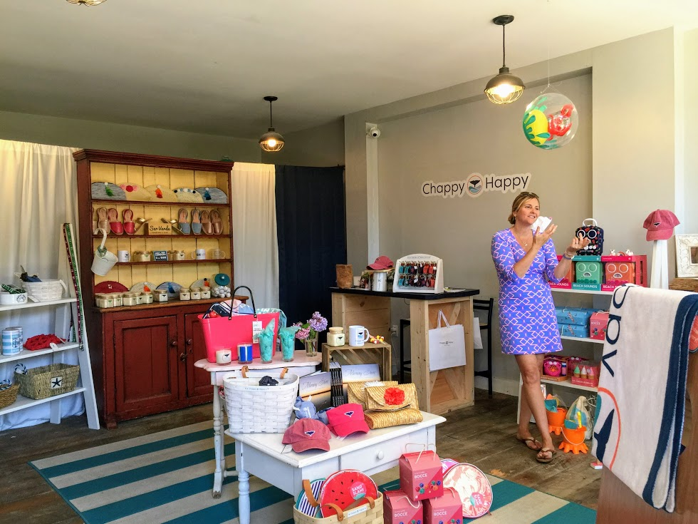 Chappy Happy Founder Hilarie Lally DeNoon in Her Edgartown Store Martha's Vineyard
