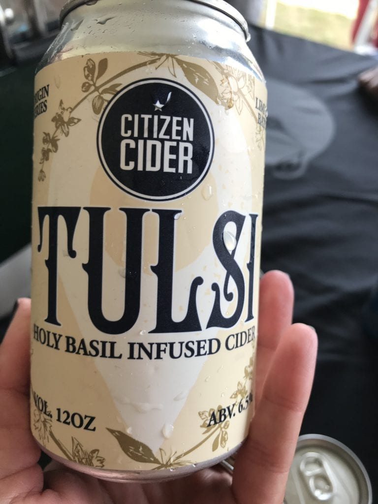 Citizen Cider's Tulsi Holy Infused Basil Cider Martha's Vineyard Craft Beer Festival