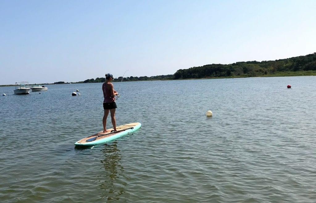 Paddle Board Fishing LUtility Martha's Vineyard