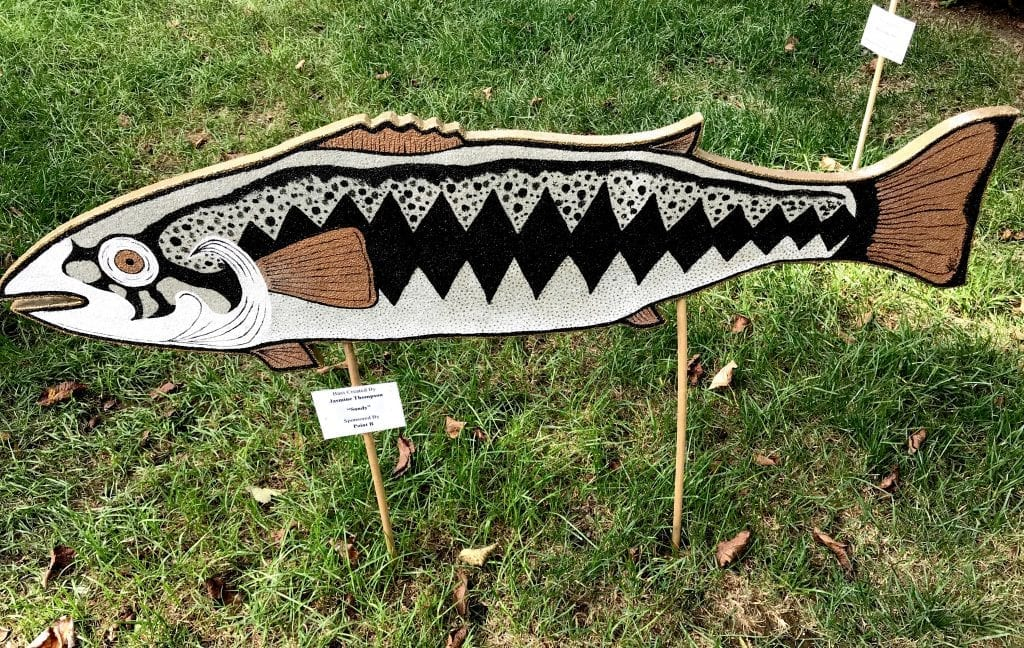 Point B Realty Sponsored Bass In The Grass Art Auction Martha's Vineyard Fishing Derby