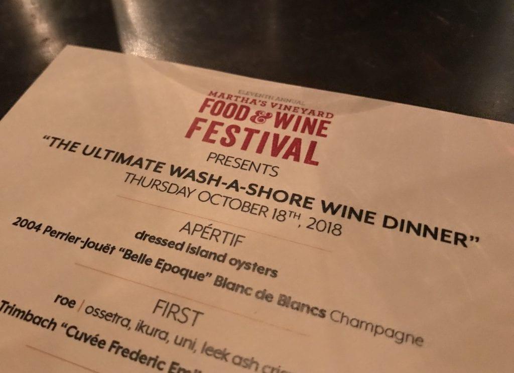 Wash A Shore Wine Dinner Wine Festival Martha's Vineyard