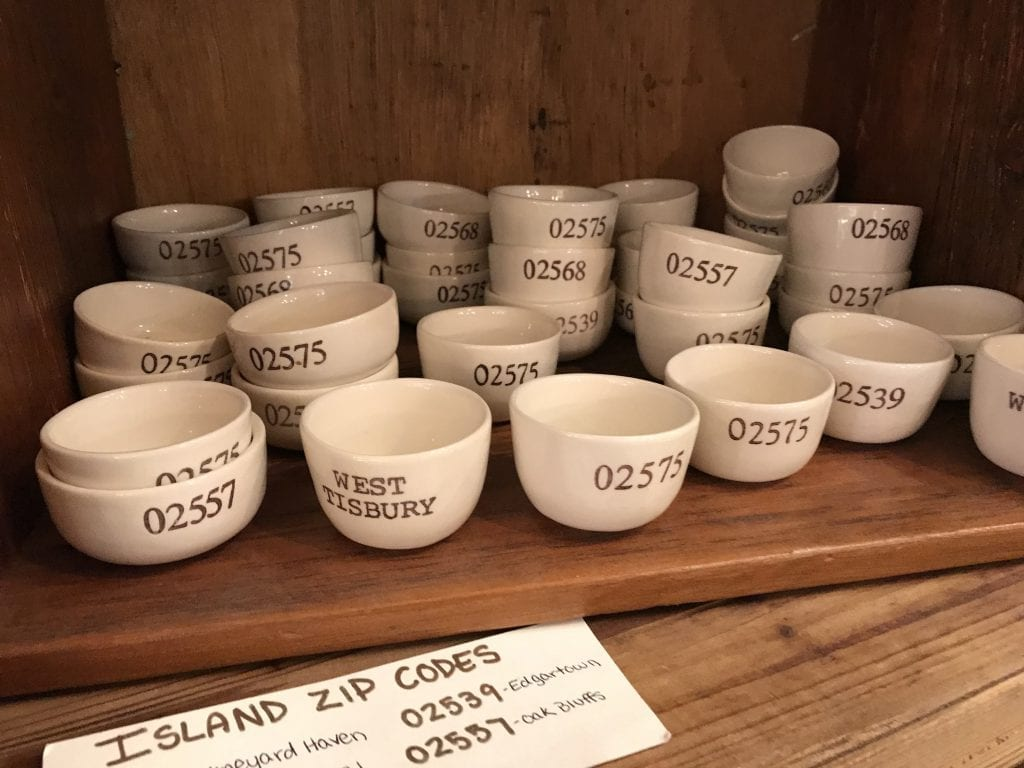 Zip Code Tea cups Brickyard MV Store Vineyard Haven