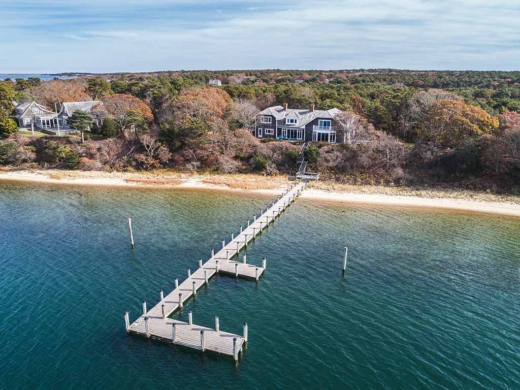 Martha's Vineyard Real Estate 2019 - Chappy Waterfront Home For Sale 44 Calebs Pond Edgartown MA 02539 Click here for details