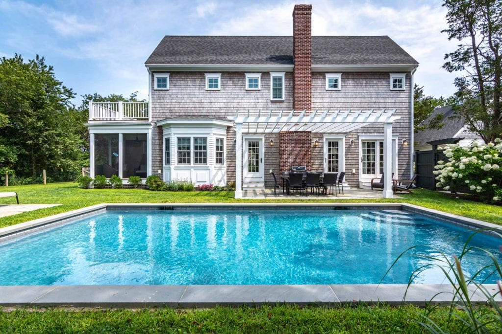 Martha's Vineyard Vacation Rentals With Ferry Tickets - Edgartown Compound With Pool And Carriage House Details