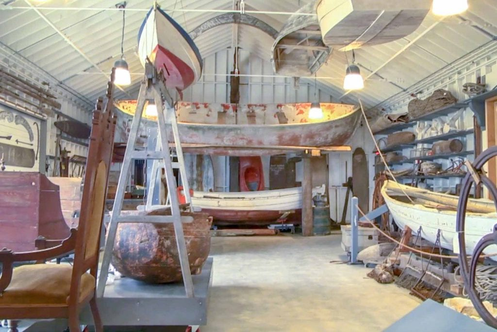 Doherty Hall At Martha's Vineyard Museum Houses Whaling Boats Life Boats Island Artifacts