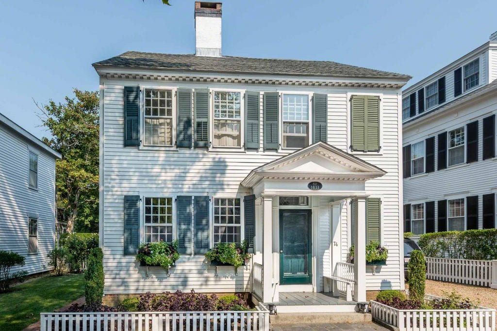 Classic Captain's House on North Water Street 5 day Summer Rentals Edgartown Point B Realty Exclusive Martha's Vineyard