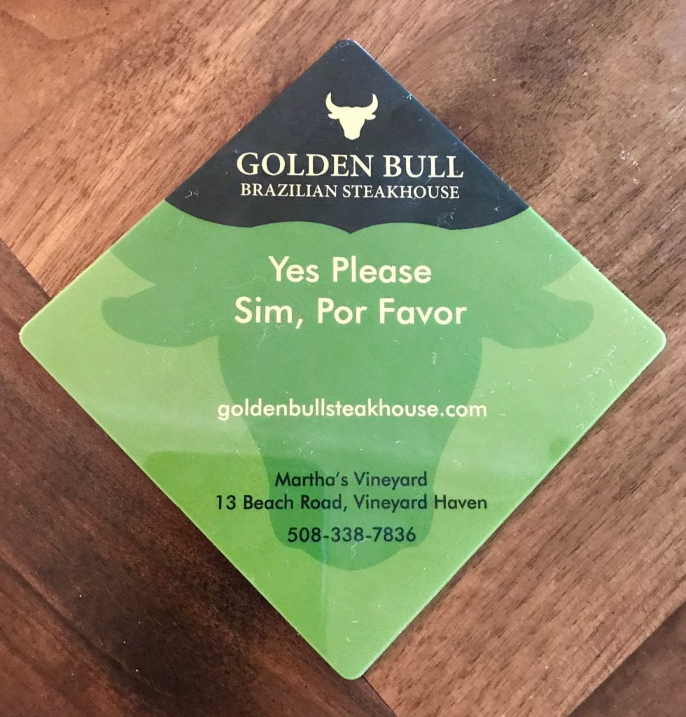 Golden Bull Brazilian Steakhouse New Vineyard Haven For Summer 2019 Martha's Vineyard