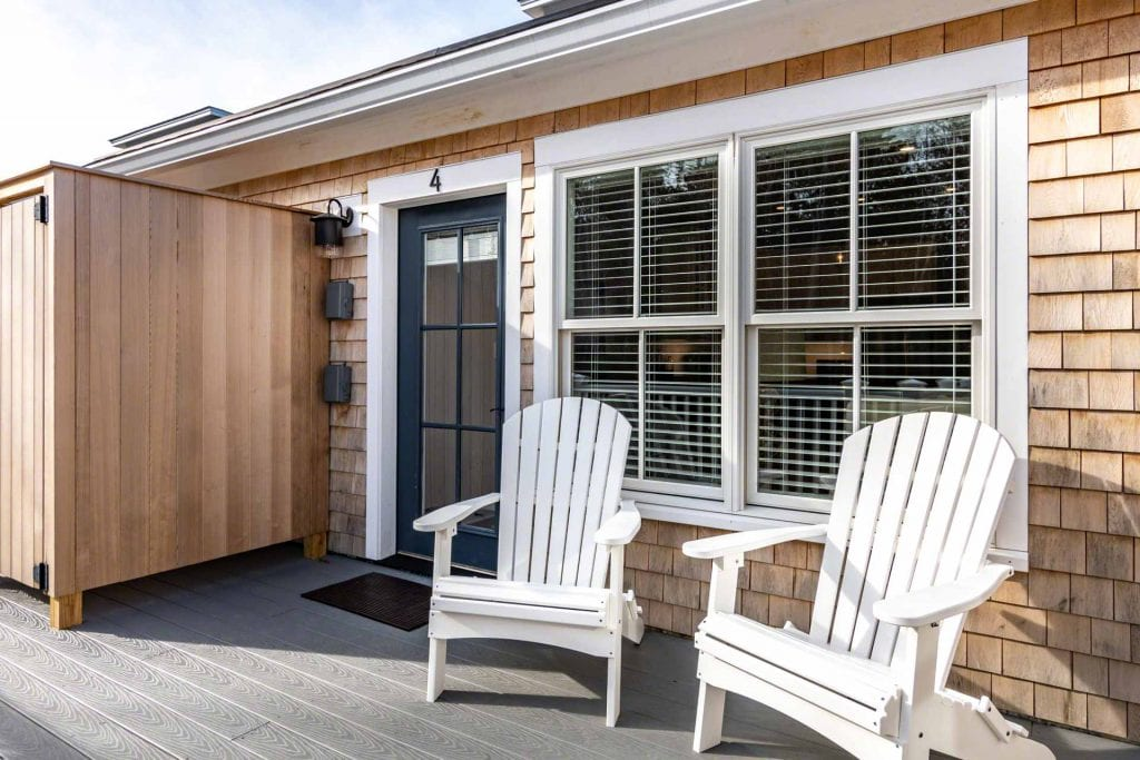 Sunny Deck With Private Seating Area At Mariners Landing Luxury Vacation Rental Condos Edgartown
