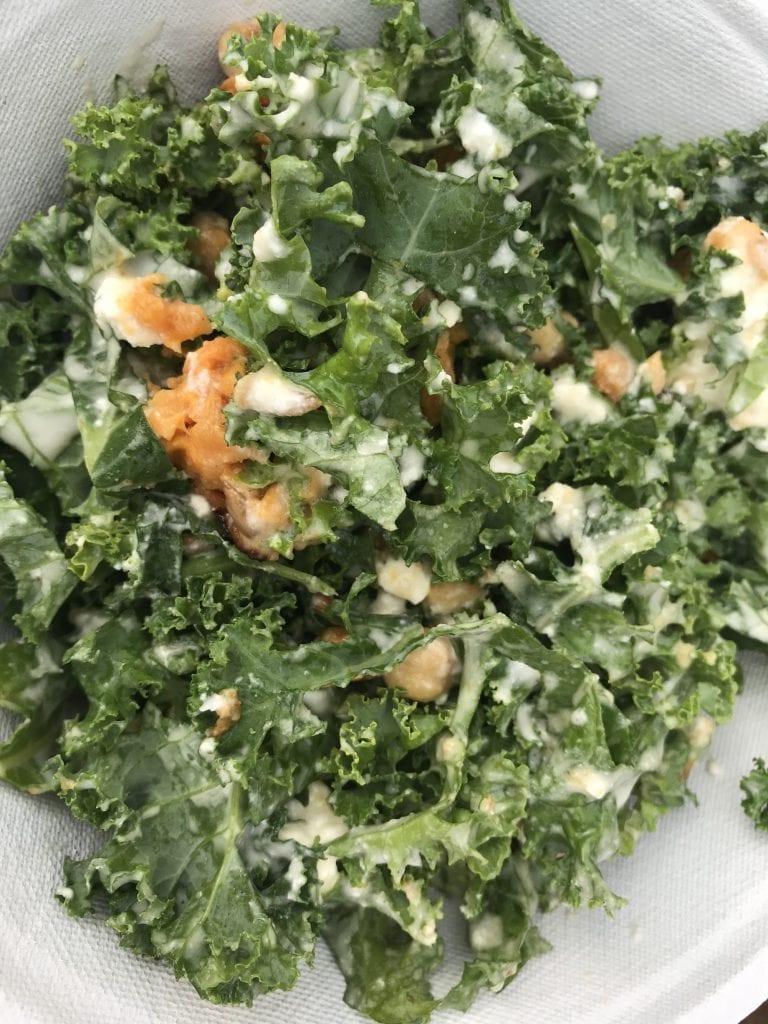 Warm Kale + Sweet Potato Salad At Nomans Restaurant Oak Bluffs