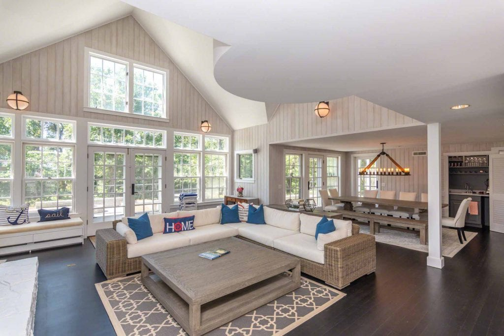 Great Room At The Mink Meadows Luxury Getaway With Pool Point B Exclusive Rental Newly Listed On Martha's Vineyard