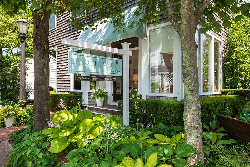 Point B Realty Vacation Rentals + Experiences Store 29 Winter Street Edgartown MA 02539 Come Visit the Martha's Vineyard Bucket List Experience Team