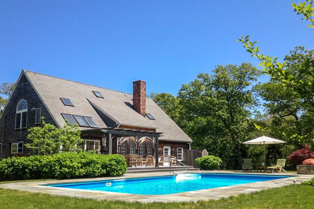 Martha's Vineyard Vacation Rentals For Summer 2020 West Tisbury: Lamberts Cove Beach Country Retreat With Pool & Pool House Point B Realty Rental Listing WT JWOO-36
