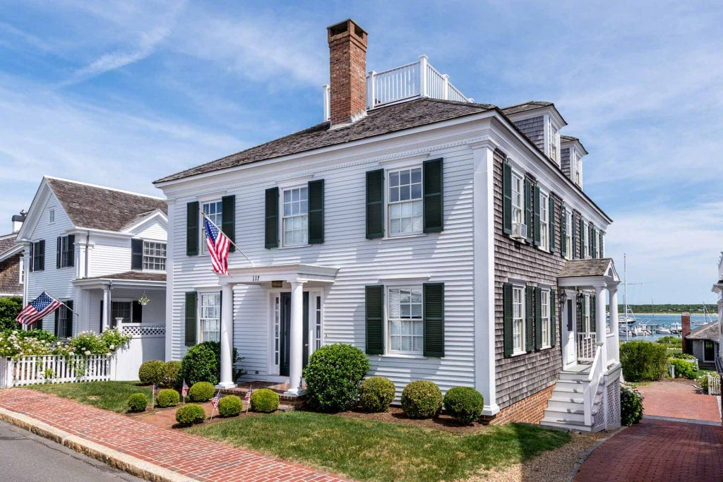 Martha's Vineyard Vacation Rentals Edgartown 4th of July Waterfront Captain's Home on Edgartown Harbor  Point B Realty Exclusive Rental Listing