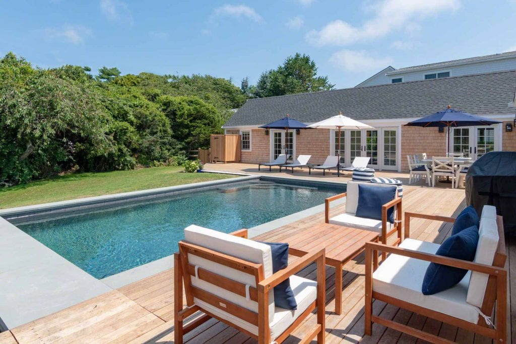 Martha's Vineyard Vacation Rentals Edgartown 4th of July Rental  Summer 2020 - Newly Renovated by architect Patrick Ahearn, with pool Realty Exclusive Rental Listing